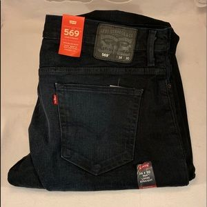 NWT LEVI'S 569 LOOSE STRAIGHT JEANS WITH STRETCH